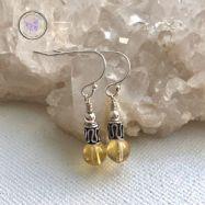 Citrine Silver Bead Earrings